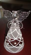 Udělala jsem si radost:-) Skleněný andělíček na stromeček nebo jen tak na ozdobu.
