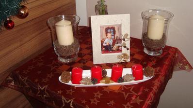 Malé vánoční zátiší na šachovém stolku:-)