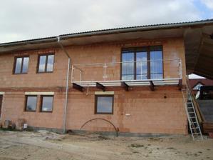 Usazená balkónová konstrukce
