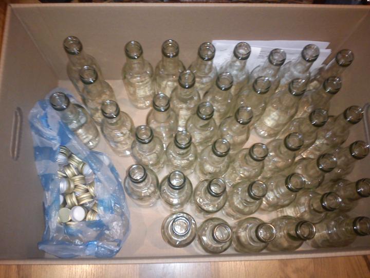 Pomaly zhŕňam... - Fľašky do výslužky, také malé chutné 250 ml
