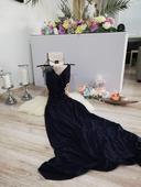 Tmavomodre šaty S, 36