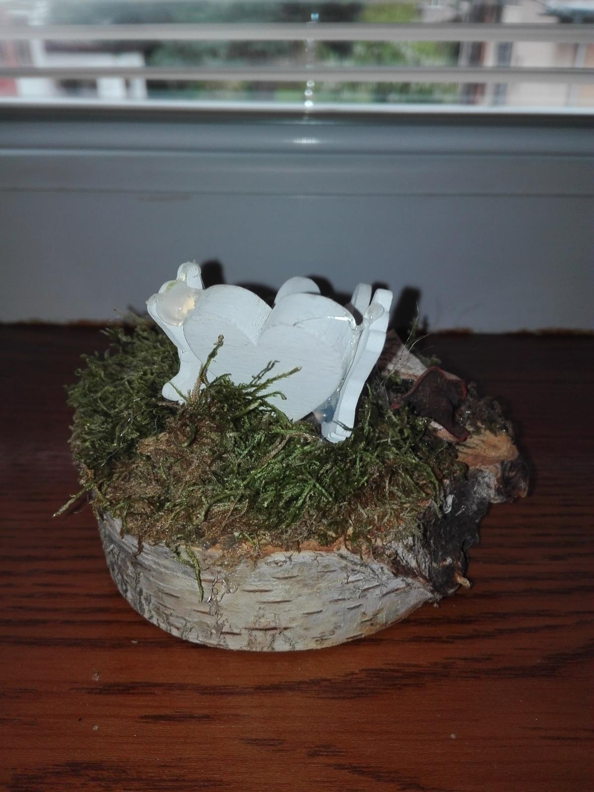 Svadobný aranžmán s holubicami 3 ks - Obrázok č. 2