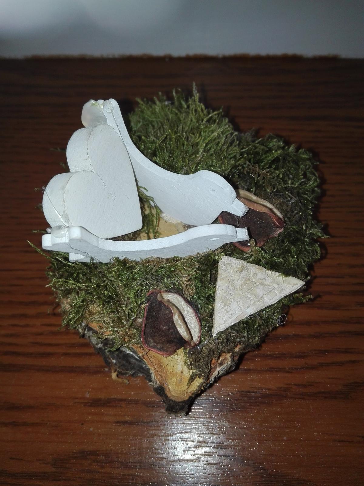 Svadobný aranžmán s holubicami 3 ks - Obrázok č. 3