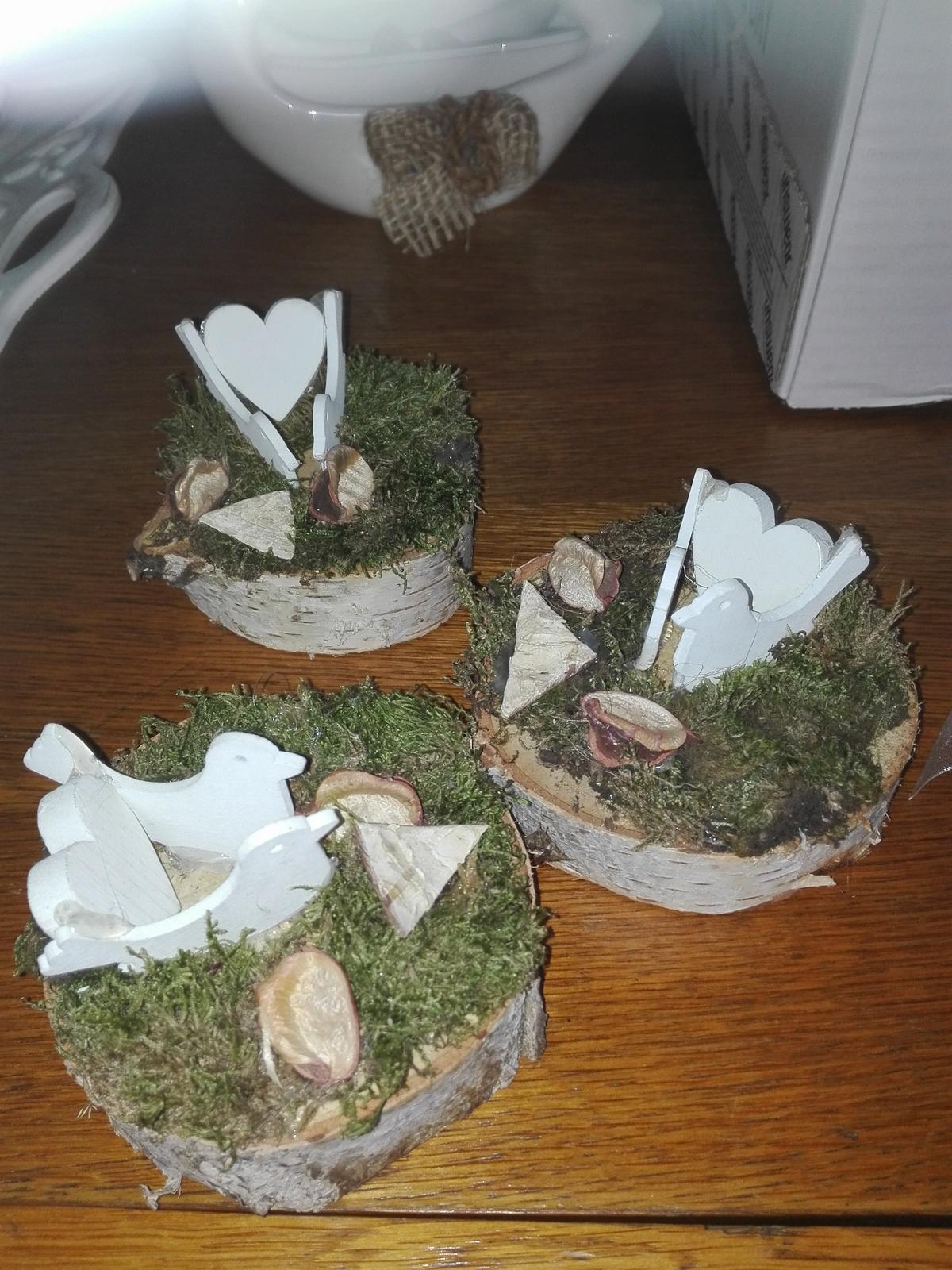Svadobný aranžmán s holubicami 3 ks - Obrázok č. 1