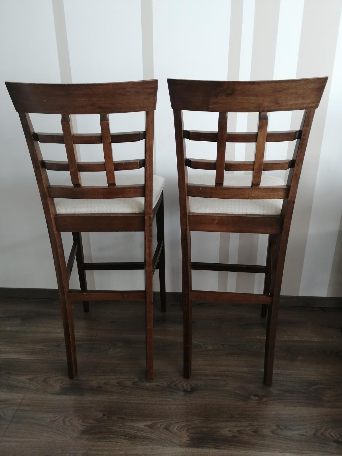 Barové stoličky masiv - orech - Obrázok č. 1