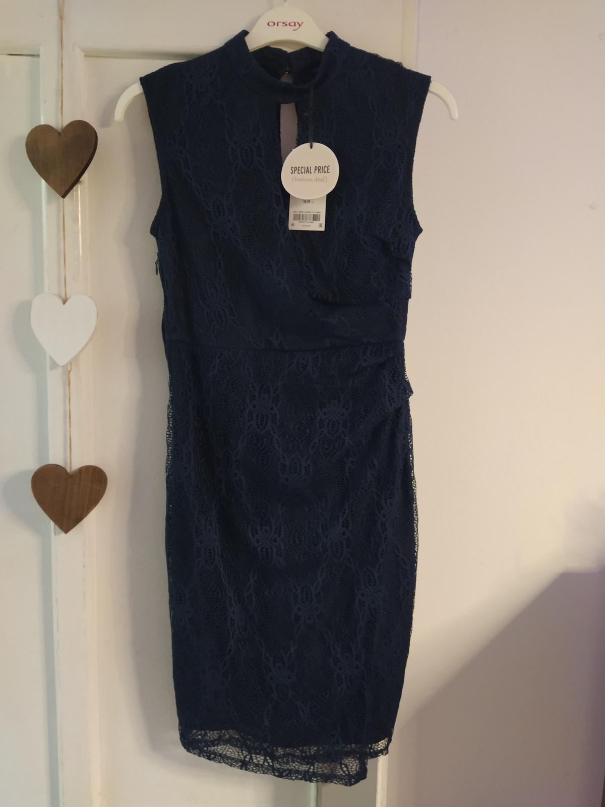 Nové tm. modré šaty Orsay - Obrázek č. 1