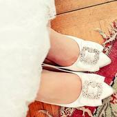 Svatební balerínky s broží, 41