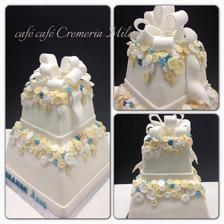tak toto je niečo pre mňa... (tortička síce nieje svadobná ale mne to nevadí, sú na nej prvky ktoré sú mi blízke :-) )
