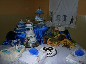 moje nádherné tortičky...