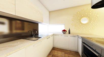 Kuchyna - pohlad na rohove okno