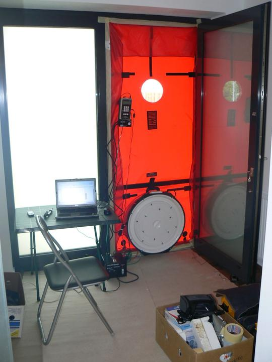 asex - Blower door test