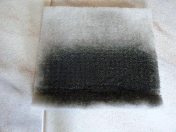 Všeličo - Filter z rekuperácie po 3 mesiacoch... samá čierna sadza... veď preto sú aj tie okná stále špinavé...