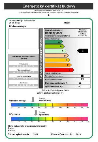 Energetický certifikát - Obrázok č. 1