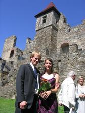 Ja s mym skoromanzou na svatbe na Klenove