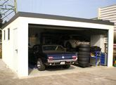 Montovaná garáž pre jedno auto s antracitovou strechou