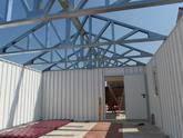 Oceľové nosníky pre garáž so sedlovou strechou