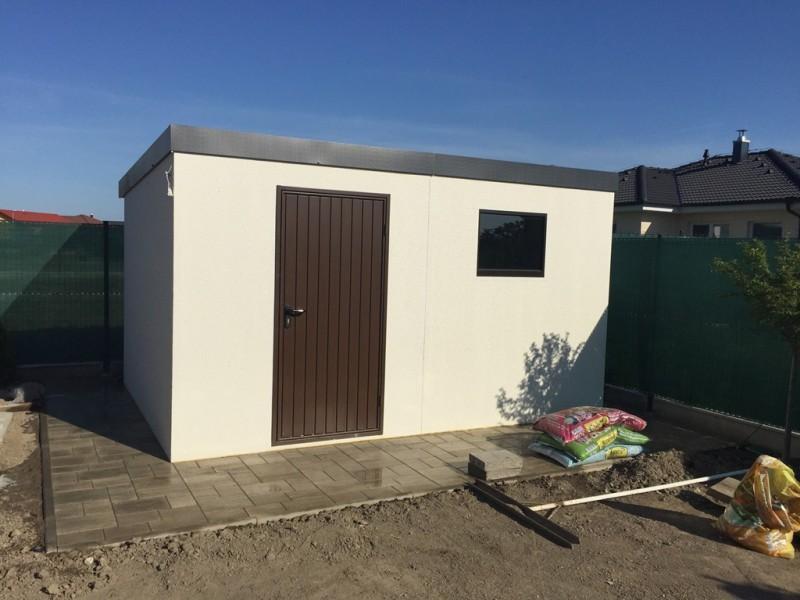 Montované záhradné domčeky GARDEON - Záhradný domček ako murovaný o rozmere 4000 x 2980mm