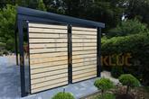 Dizajnová pergola s drevenými výplňami