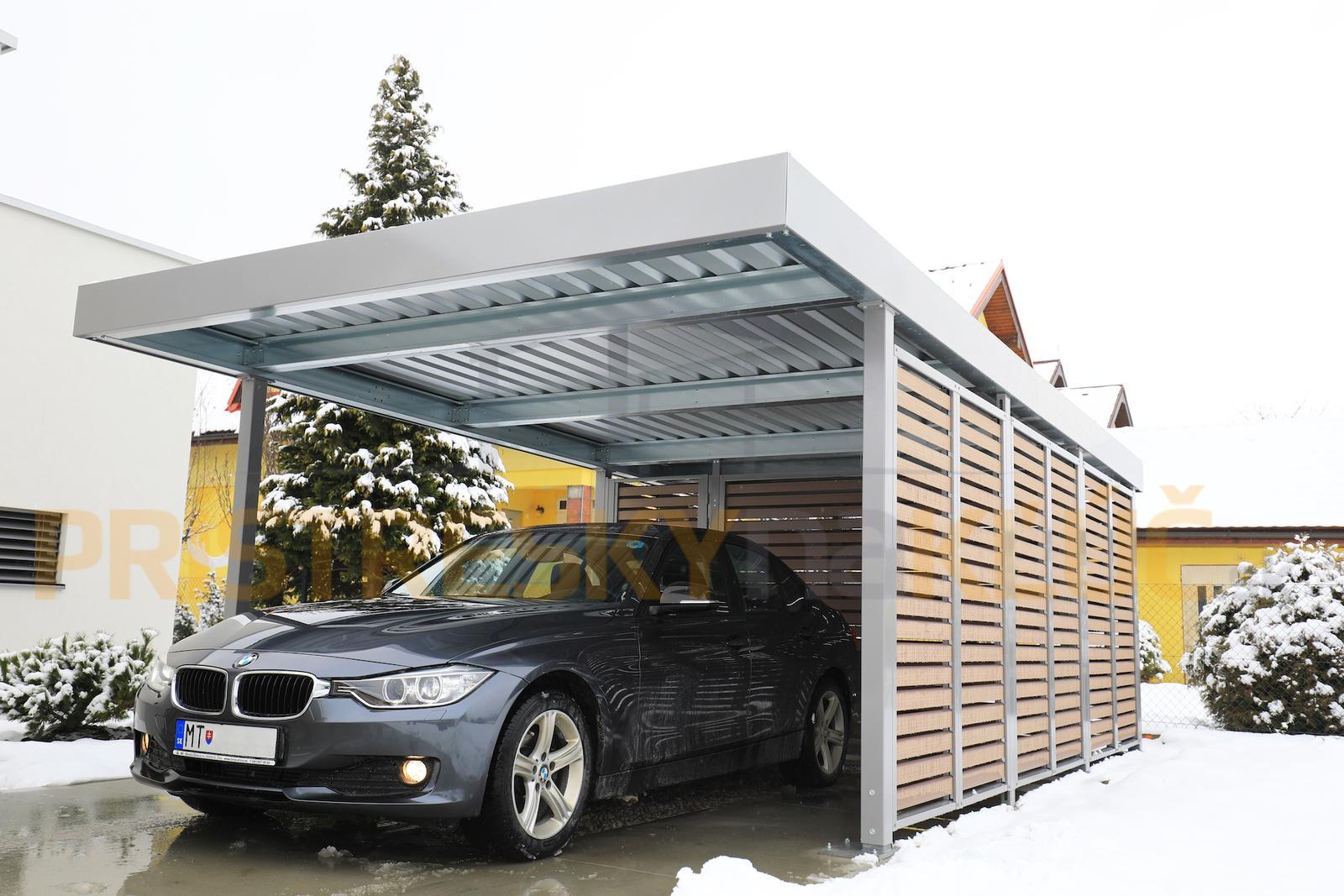 Nemecké prístrešky SIEBAU - Montovaný prístrešok SIEBAU pre jedno auto