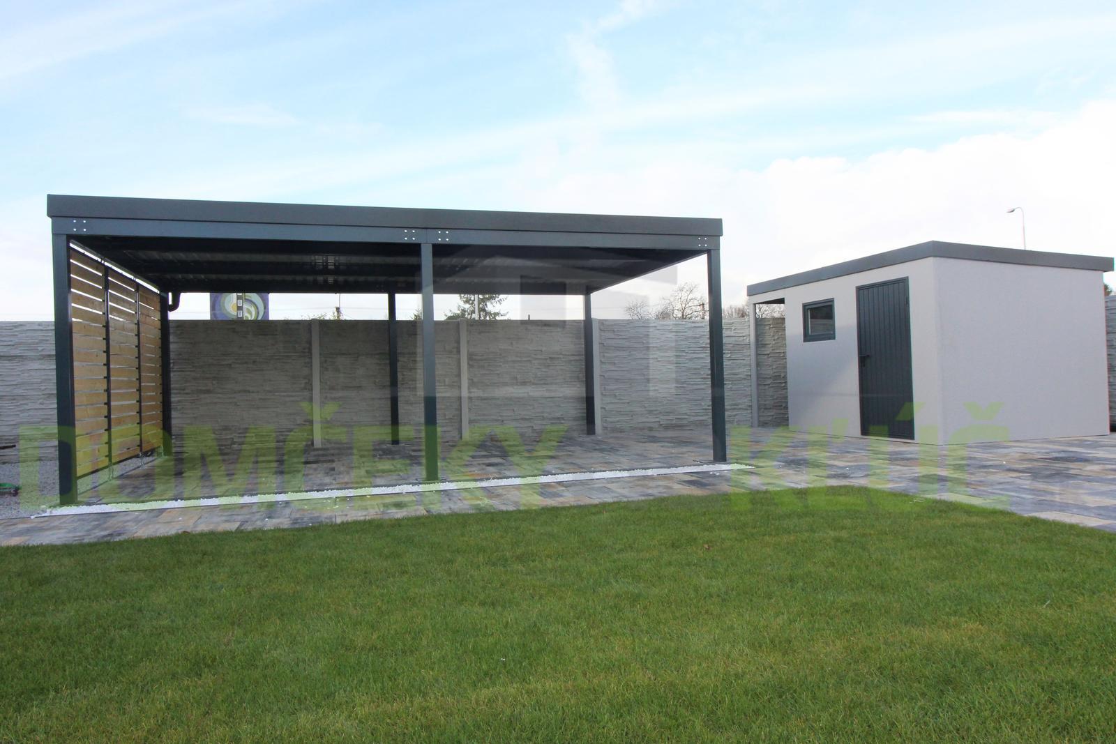 Dizajnová pergola GARDEON - Moderná montovaná pergola a montovaný záhradný domček