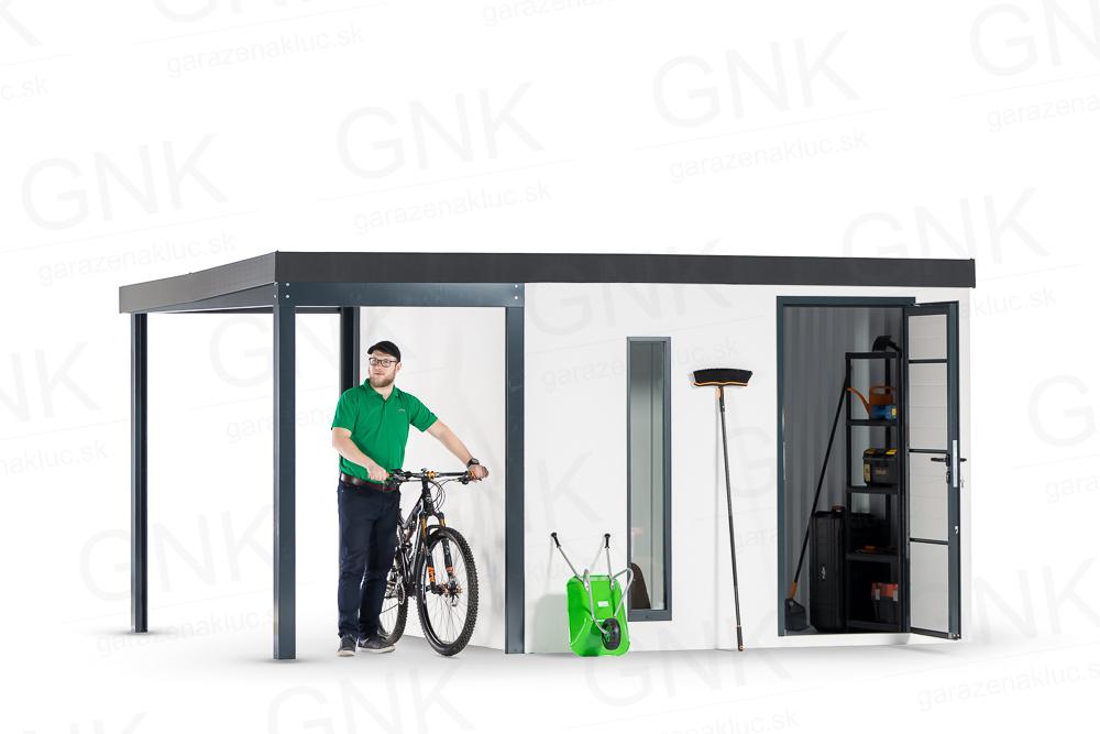 garazenakluc - Montovan záhradný domček na bicykel