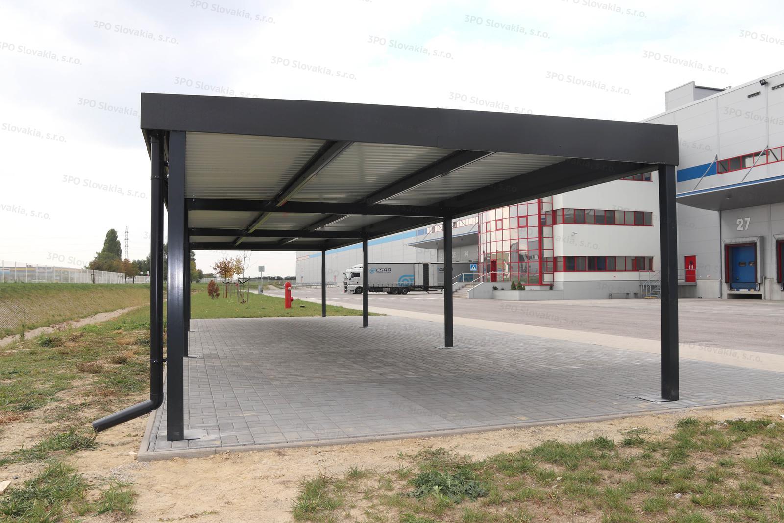 Dizajnové prístrešky GARDEON - Montovaný prístrešok ŠTANDARD pre logistické centrum
