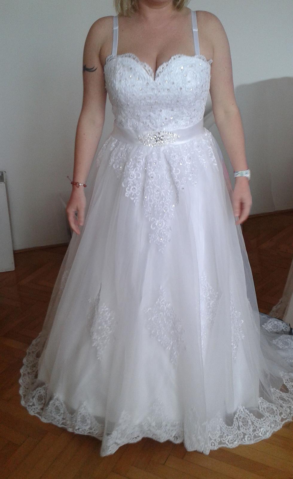 svadobné šaty velk. 42 - 44 - Obrázok č. 1