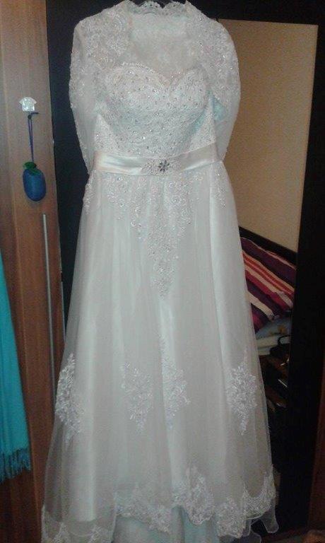 svadobné šaty velk. 42 - 44 - Obrázok č. 2