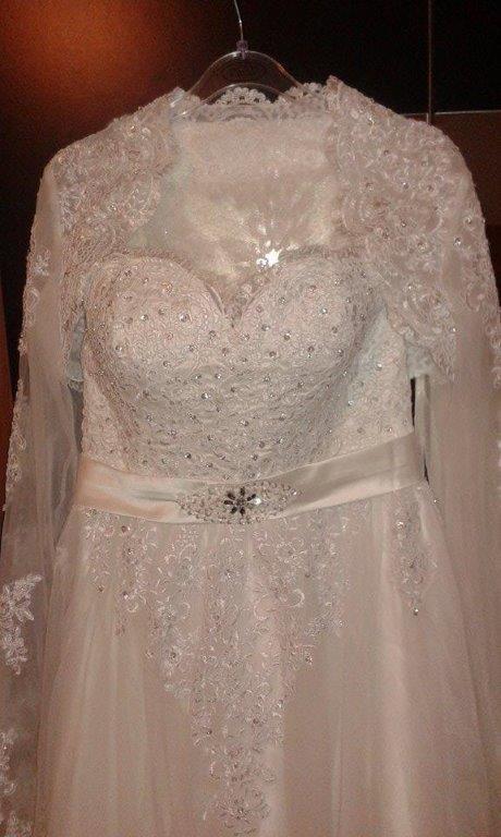 svadobné šaty velk. 42 - 44 - Obrázok č. 3