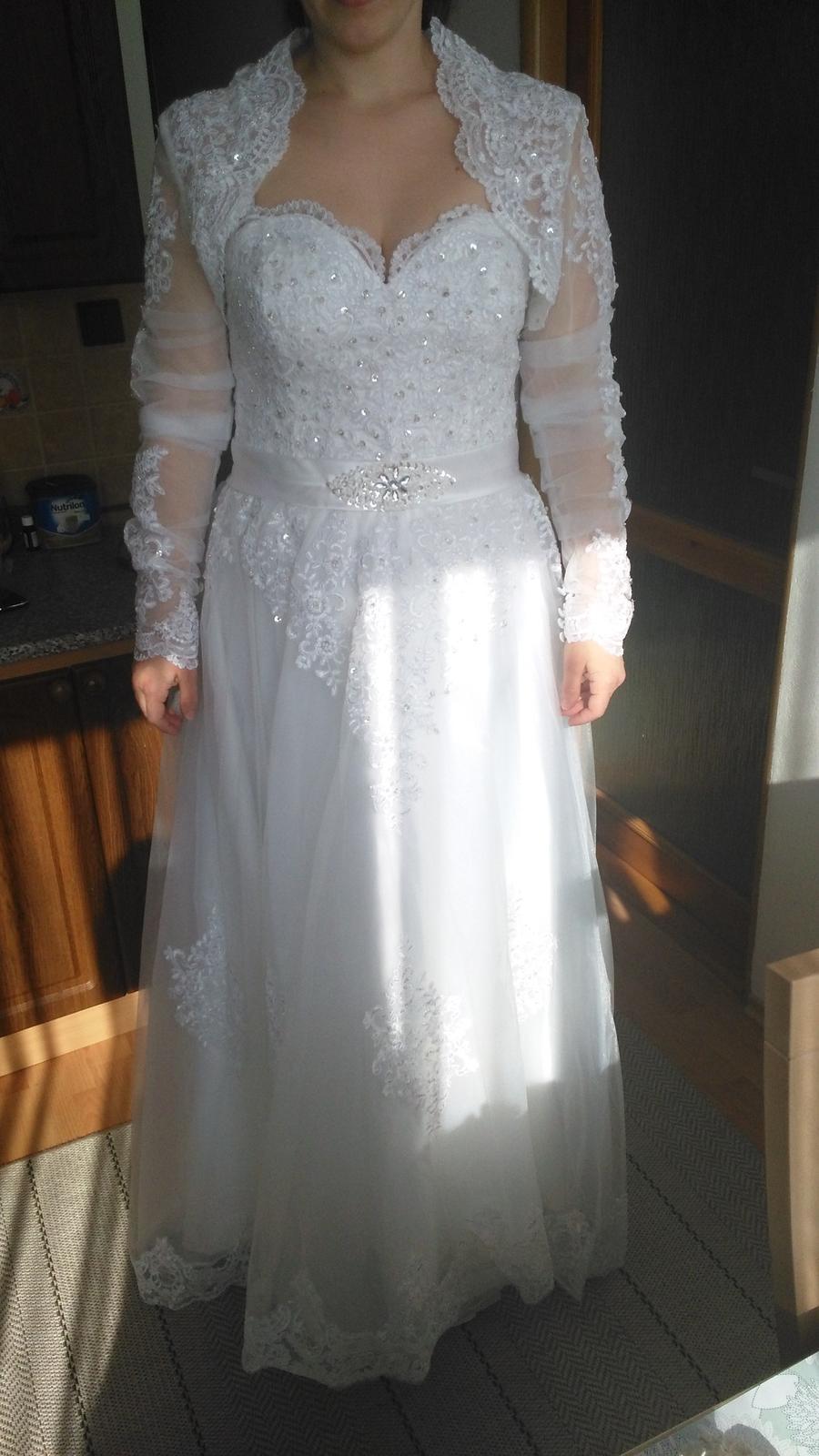svadobné šaty velk. 42 - 44 - Obrázok č. 4