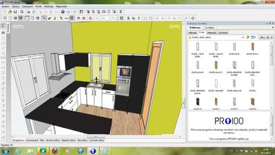 můj amatérský pokus o návrh kuchyňské linky :-)