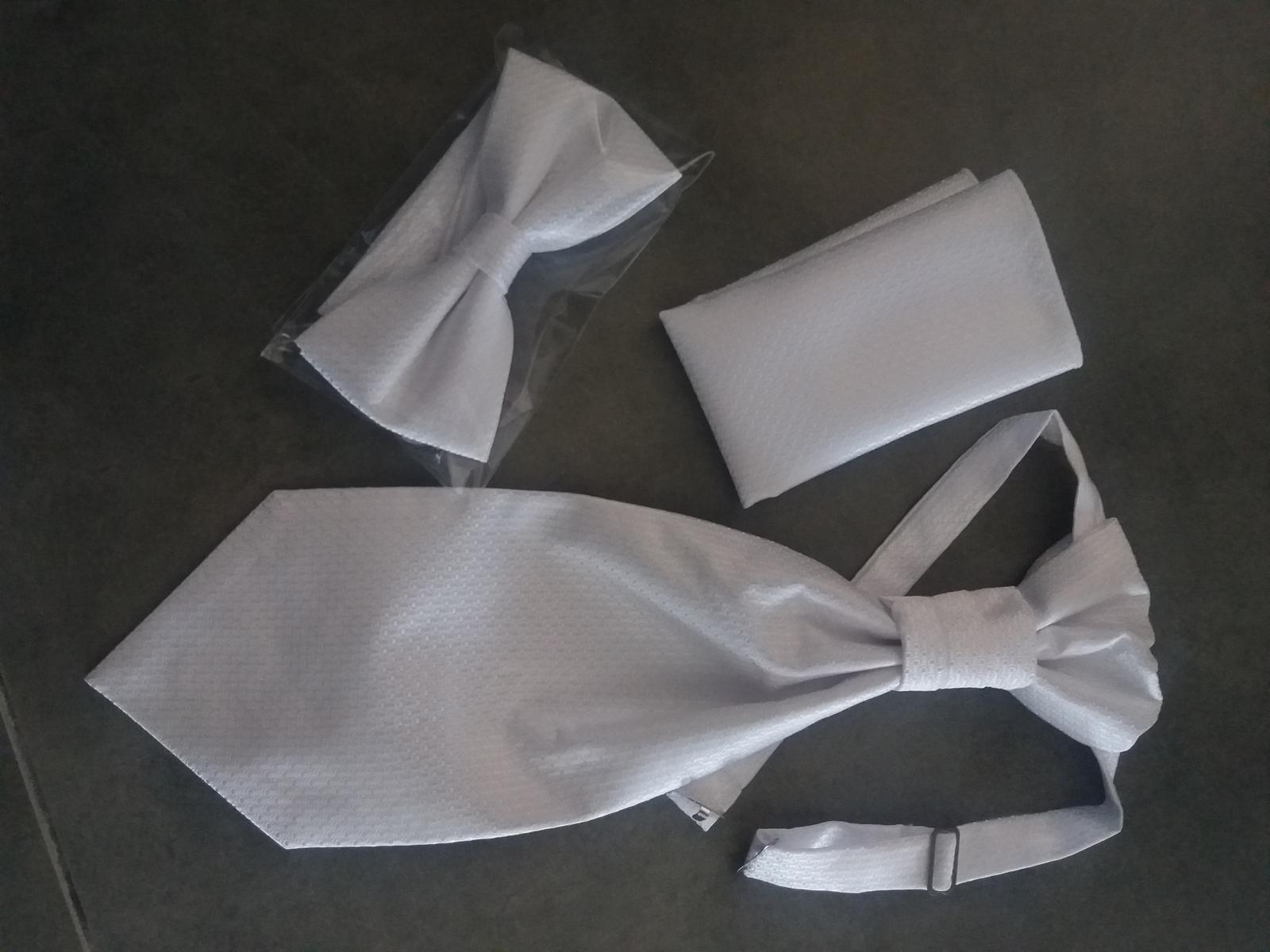 Svadobna vesta,kravata,motylik a vreckovka - Obrázok č. 2