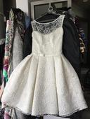 Krátké krajkové svatební šaty AGNES vel. 36/38, 38
