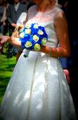 Překrásné krátké krajkové svatební šaty AGNES, 38
