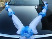Modro bílá šerpa na auto,