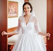 Svadobné šaty s čipkou, veľkosť 36, 36