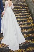 Svadobné šaty na nízku postavu veľkosť  34, 34