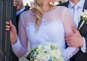 svatební šaty s dlouhým rukávem , 36