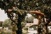 Dřevěná slavobrána ,