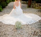 Krajkové svatební šaty odstín Ivory velikost 36/38, 38