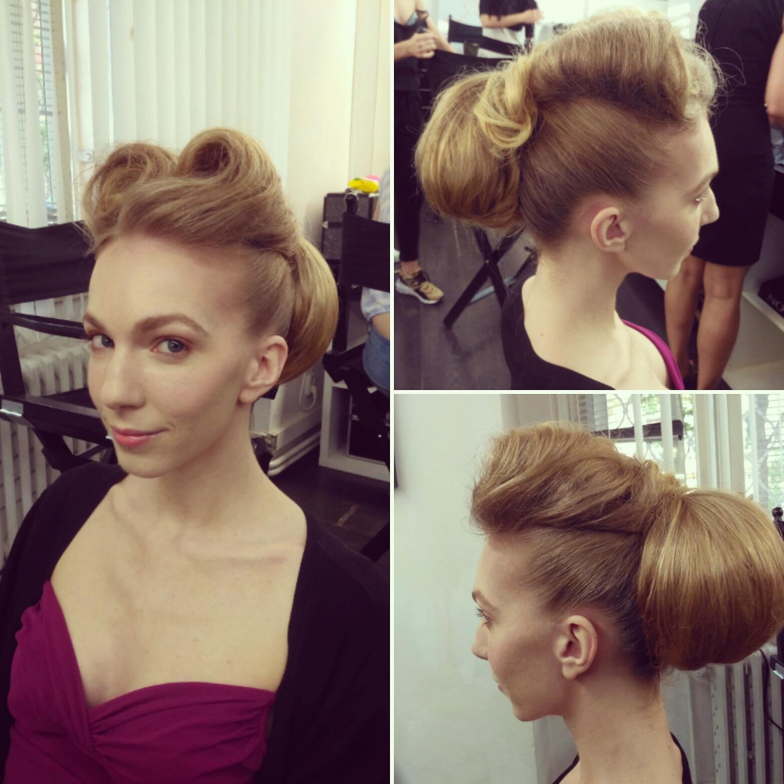 Mé účesy v rámci kurzu Hair Design v Make-Up Institute Prague - Obrázek č. 1