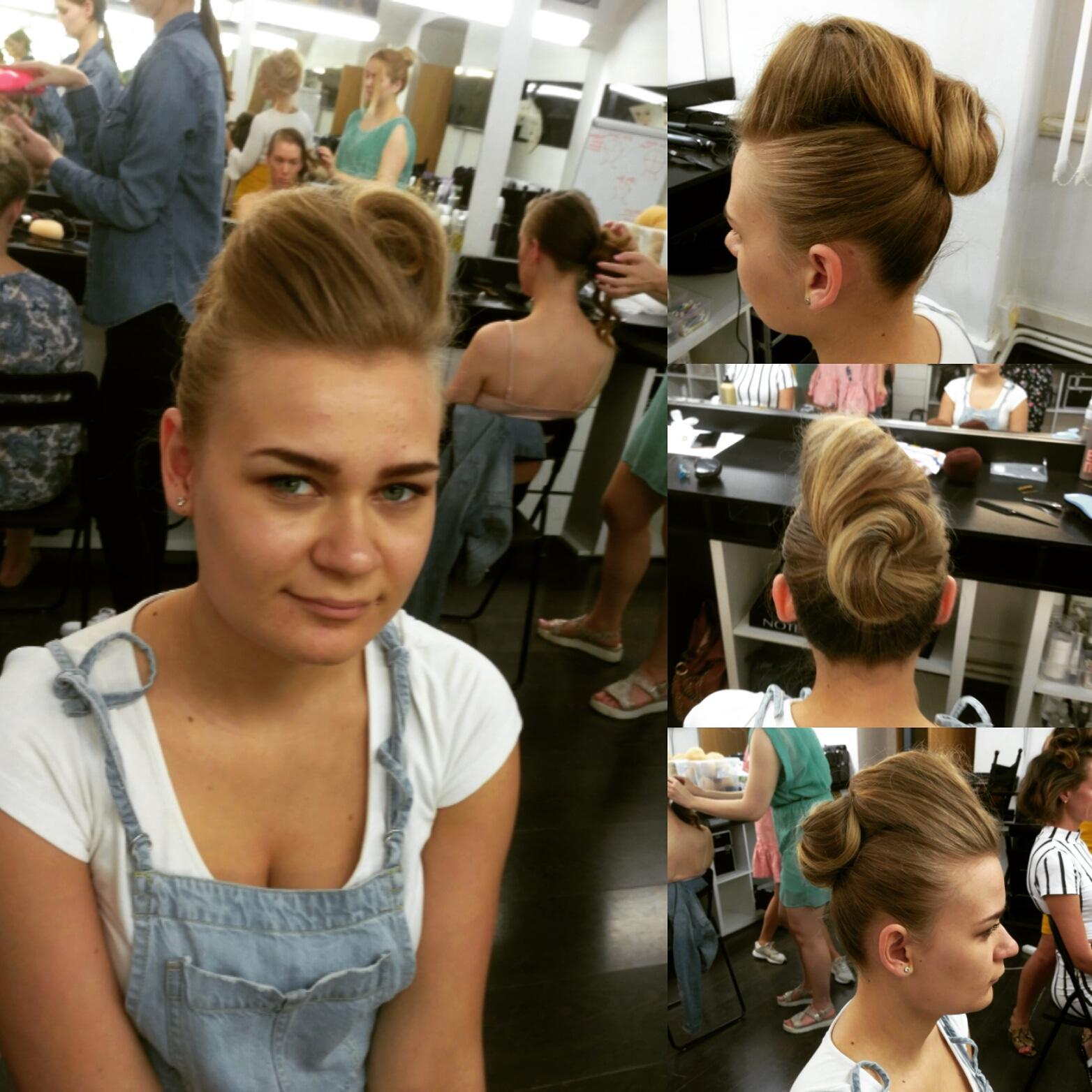 Mé účesy v rámci kurzu Hair Design v Make-Up Institute Prague - Obrázek č. 2