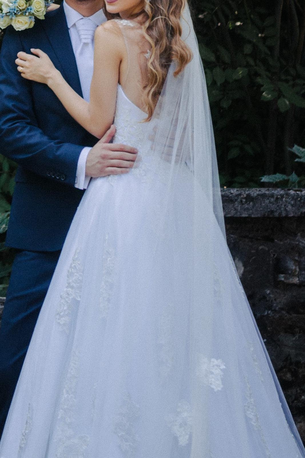 Princeznovské svadobné šaty, veľkosť 34 - Obrázok č. 1