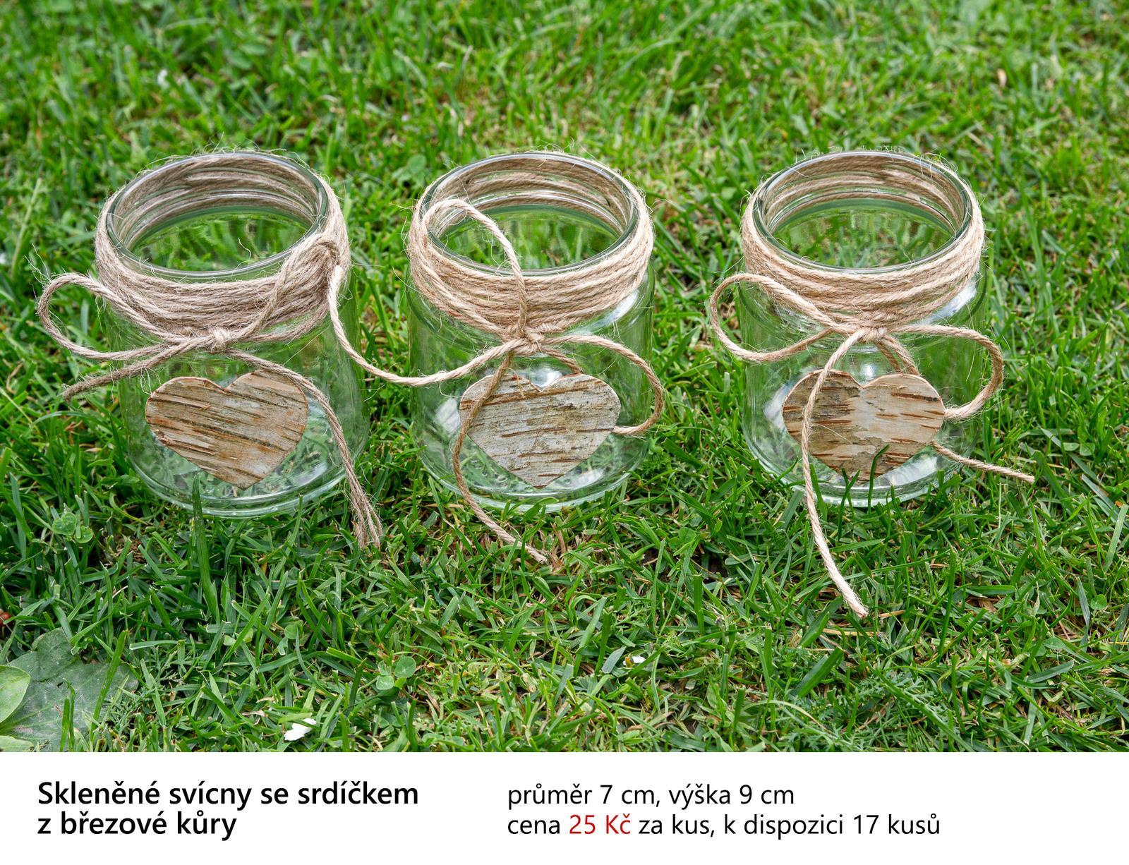 Svícínky se srdíčkem z březové kůry - Obrázek č. 1