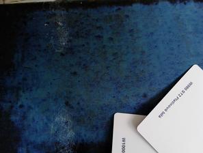 detail..farba skresluje,je viac azurovo modra, zelenkava...ako more:-)