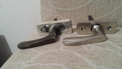 vlavo povodna klucka, vpravo ta ista po vylesteni