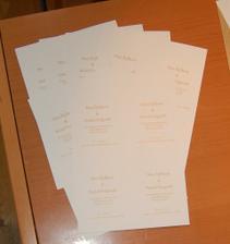 Text som si vyprintovala na tvrdom kvalitnom papieri