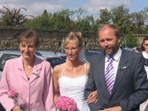 s rodiči u zámku