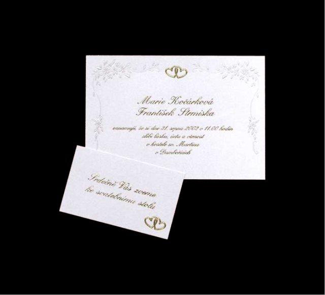 Myška a jej predstavy o svadbe - oznamko by mohlo vyzerat takto, taká jednoduchá kartička, ale bez zlatých srdiečok :-)