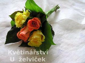 Pro maminky... budou v ní bílé a oranžové růže.